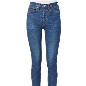 RE/DONE high rise ankle crop stretch. NWT!